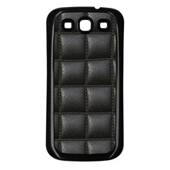 Black Cell Leather Retro Car Seat Textures Samsung Galaxy S3 Back Case (Black)