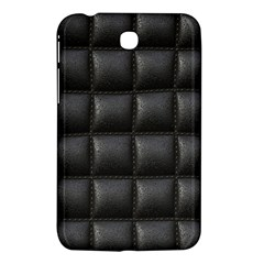 Black Cell Leather Retro Car Seat Textures Samsung Galaxy Tab 3 (7 ) P3200 Hardshell Case