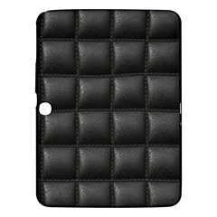 Black Cell Leather Retro Car Seat Textures Samsung Galaxy Tab 3 (10 1 ) P5200 Hardshell Case