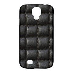 Black Cell Leather Retro Car Seat Textures Samsung Galaxy S4 Classic Hardshell Case (PC+Silicone)