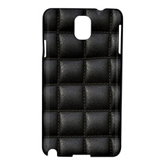 Black Cell Leather Retro Car Seat Textures Samsung Galaxy Note 3 N9005 Hardshell Case