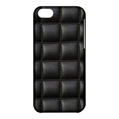 Black Cell Leather Retro Car Seat Textures Apple iPhone 5C Hardshell Case