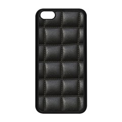 Black Cell Leather Retro Car Seat Textures Apple Iphone 5c Seamless Case (black)