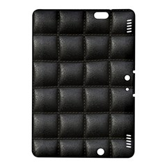 Black Cell Leather Retro Car Seat Textures Kindle Fire HDX 8.9  Hardshell Case