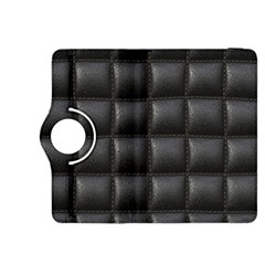 Black Cell Leather Retro Car Seat Textures Kindle Fire Hdx 8 9  Flip 360 Case