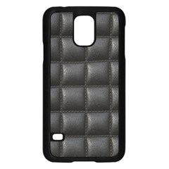Black Cell Leather Retro Car Seat Textures Samsung Galaxy S5 Case (black)