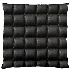 Black Cell Leather Retro Car Seat Textures Standard Flano Cushion Case (one Side)