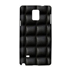 Black Cell Leather Retro Car Seat Textures Samsung Galaxy Note 4 Hardshell Case