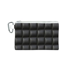 Black Cell Leather Retro Car Seat Textures Canvas Cosmetic Bag (s)