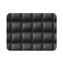 Black Cell Leather Retro Car Seat Textures Double Sided Flano Blanket (mini)