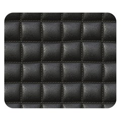Black Cell Leather Retro Car Seat Textures Double Sided Flano Blanket (Small)