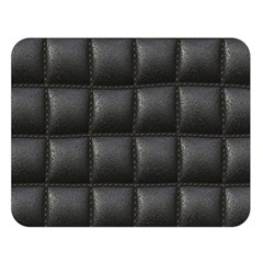 Black Cell Leather Retro Car Seat Textures Double Sided Flano Blanket (Large)