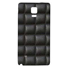 Black Cell Leather Retro Car Seat Textures Galaxy Note 4 Back Case