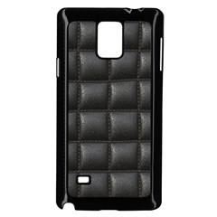 Black Cell Leather Retro Car Seat Textures Samsung Galaxy Note 4 Case (Black)
