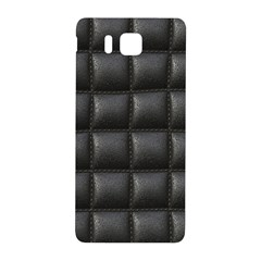 Black Cell Leather Retro Car Seat Textures Samsung Galaxy Alpha Hardshell Back Case
