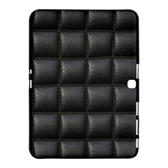 Black Cell Leather Retro Car Seat Textures Samsung Galaxy Tab 4 (10.1 ) Hardshell Case