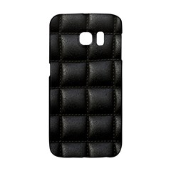 Black Cell Leather Retro Car Seat Textures Galaxy S6 Edge