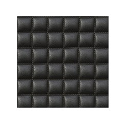 Black Cell Leather Retro Car Seat Textures Small Satin Scarf (square)