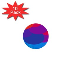 Circles Colorful Balloon Circle Purple Blue Red Orange 1  Mini Buttons (10 pack)