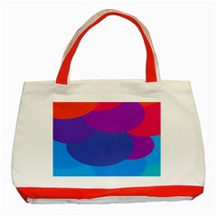 Circles Colorful Balloon Circle Purple Blue Red Orange Classic Tote Bag (Red)