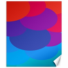 Circles Colorful Balloon Circle Purple Blue Red Orange Canvas 8  x 10