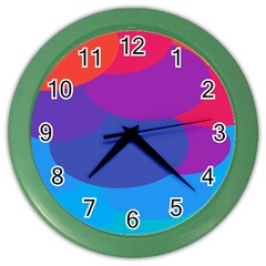 Circles Colorful Balloon Circle Purple Blue Red Orange Color Wall Clocks