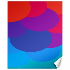 Circles Colorful Balloon Circle Purple Blue Red Orange Canvas 11  x 14