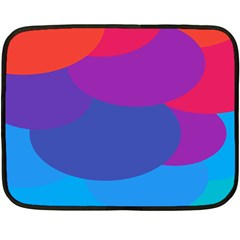 Circles Colorful Balloon Circle Purple Blue Red Orange Double Sided Fleece Blanket (Mini)