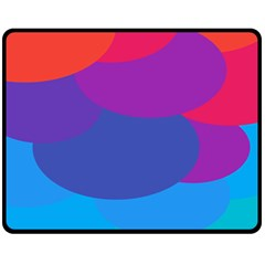 Circles Colorful Balloon Circle Purple Blue Red Orange Fleece Blanket (Medium)