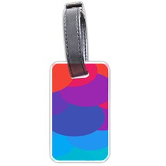 Circles Colorful Balloon Circle Purple Blue Red Orange Luggage Tags (Two Sides)