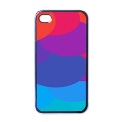 Circles Colorful Balloon Circle Purple Blue Red Orange Apple iPhone 4 Case (Black)