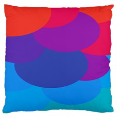Circles Colorful Balloon Circle Purple Blue Red Orange Large Cushion Case (One Side)
