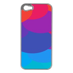 Circles Colorful Balloon Circle Purple Blue Red Orange Apple iPhone 5 Case (Silver)
