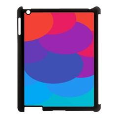 Circles Colorful Balloon Circle Purple Blue Red Orange Apple iPad 3/4 Case (Black)