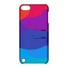 Circles Colorful Balloon Circle Purple Blue Red Orange Apple iPod Touch 5 Hardshell Case with Stand