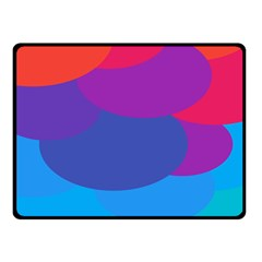 Circles Colorful Balloon Circle Purple Blue Red Orange Double Sided Fleece Blanket (small)