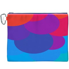 Circles Colorful Balloon Circle Purple Blue Red Orange Canvas Cosmetic Bag (XXXL)