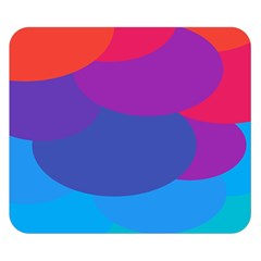 Circles Colorful Balloon Circle Purple Blue Red Orange Double Sided Flano Blanket (Small)