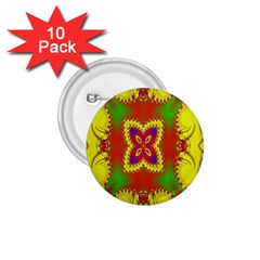 Digital Color Ornament 1.75  Buttons (10 pack)