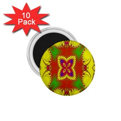 Digital Color Ornament 1.75  Magnets (10 pack)