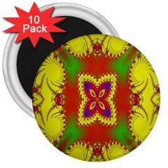 Digital Color Ornament 3  Magnets (10 pack)