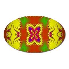 Digital Color Ornament Oval Magnet