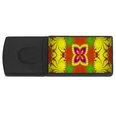 Digital Color Ornament USB Flash Drive Rectangular (1 GB)