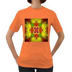 Digital Color Ornament Women s Dark T Shirt
