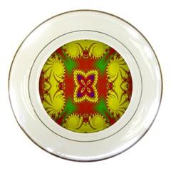 Digital Color Ornament Porcelain Plates