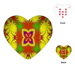 Digital Color Ornament Playing Cards (Heart)