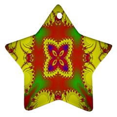 Digital Color Ornament Star Ornament (two Sides)