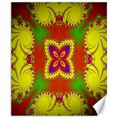 Digital Color Ornament Canvas 8  X 10