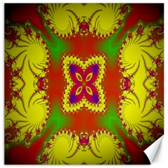 Digital Color Ornament Canvas 16  x 16