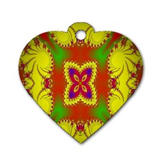 Digital Color Ornament Dog Tag Heart (One Side)